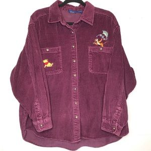 Tops - Winnie The Pooh Corduroy Button Up Top XL